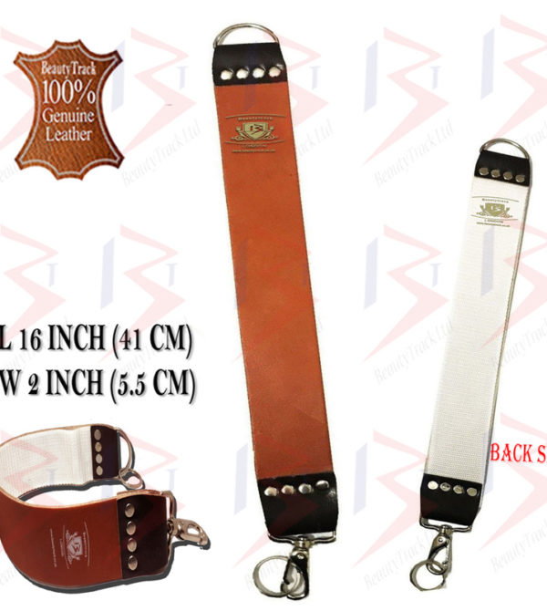 BeautyTrack Genuine Leather Sharpening Strop Strap Shaving Razor Belt Brown