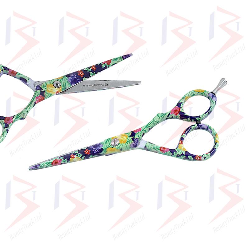 BeautyTrack Hairdressing Scissor Set Salon Shears 6 Flower Design 1