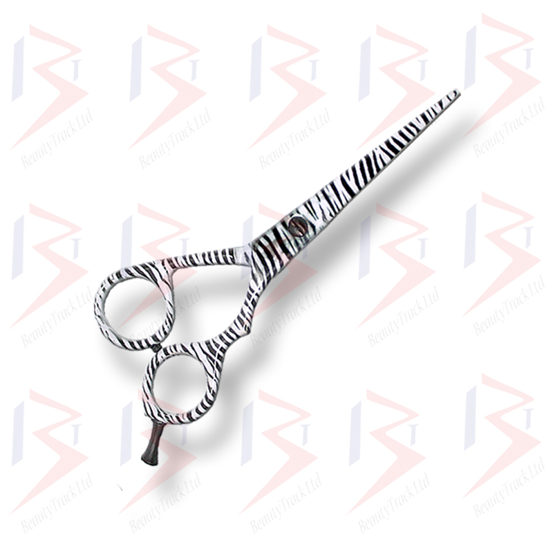 BeautyTrack Hairdressing Scissor Set Salon Shears 6 Zebra Print 1