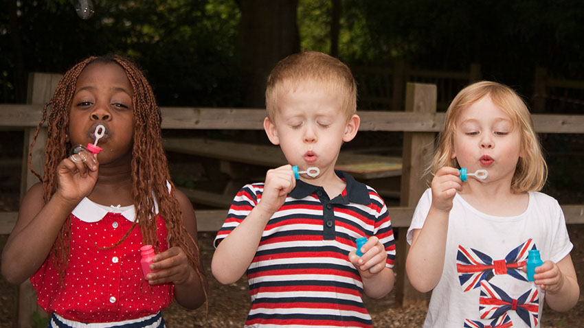 Forever blowing bubbles at holiday club