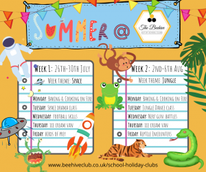 Summer Holiday club activities at the Beehive Club
