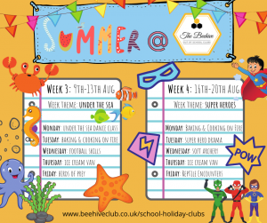 Summer Holiday activities at the Beehive Club