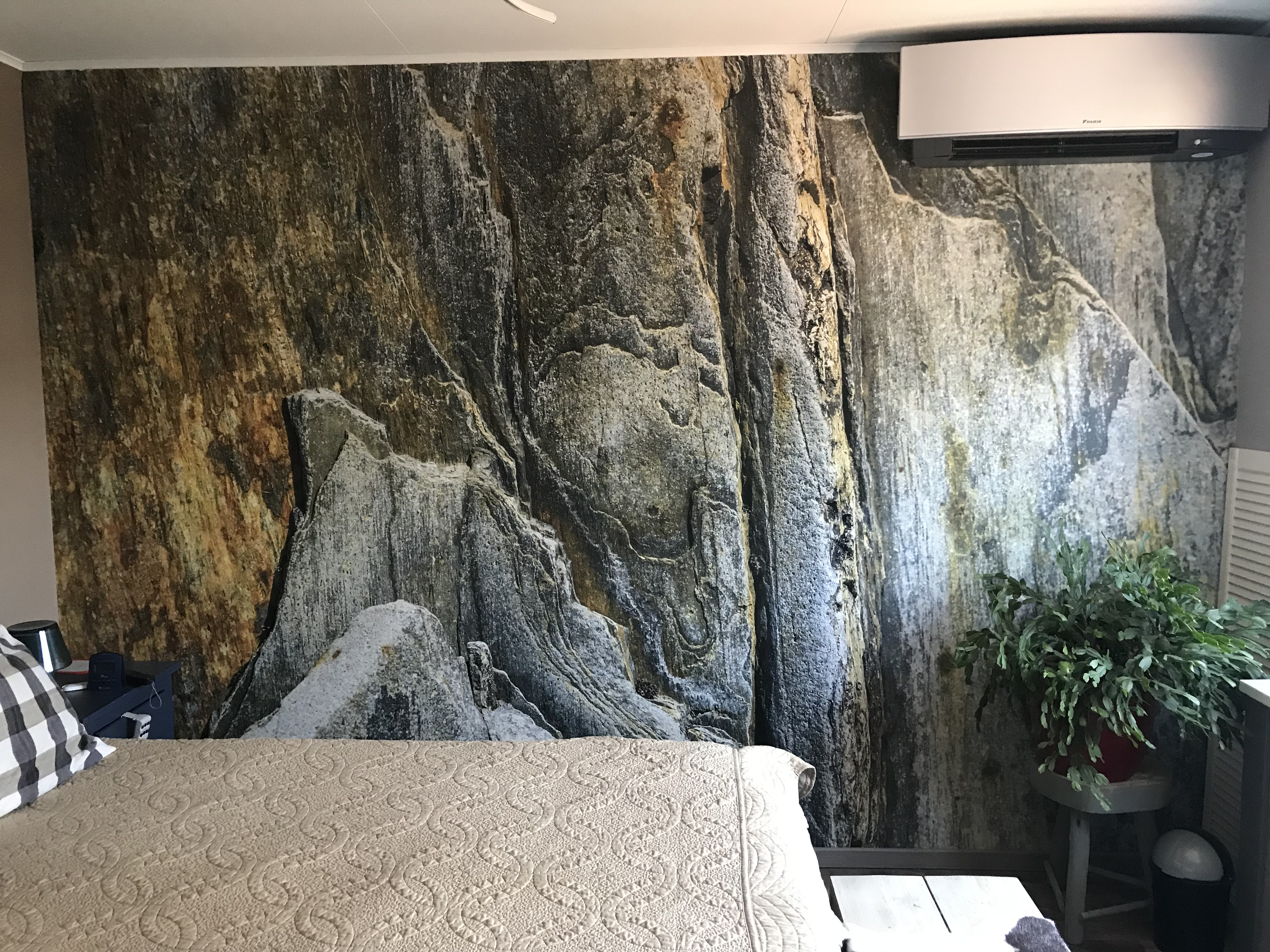 Airtex in slaapkamer
