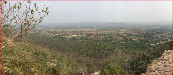 Panoramic view from Eastern Gate of Chittorgarh