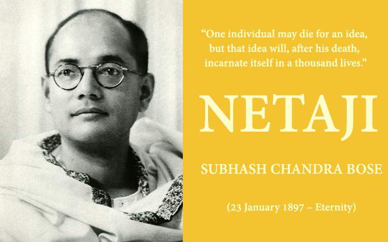NETAJI SUBHASH CHANDRA BOSE – THE PHILOSOPHER