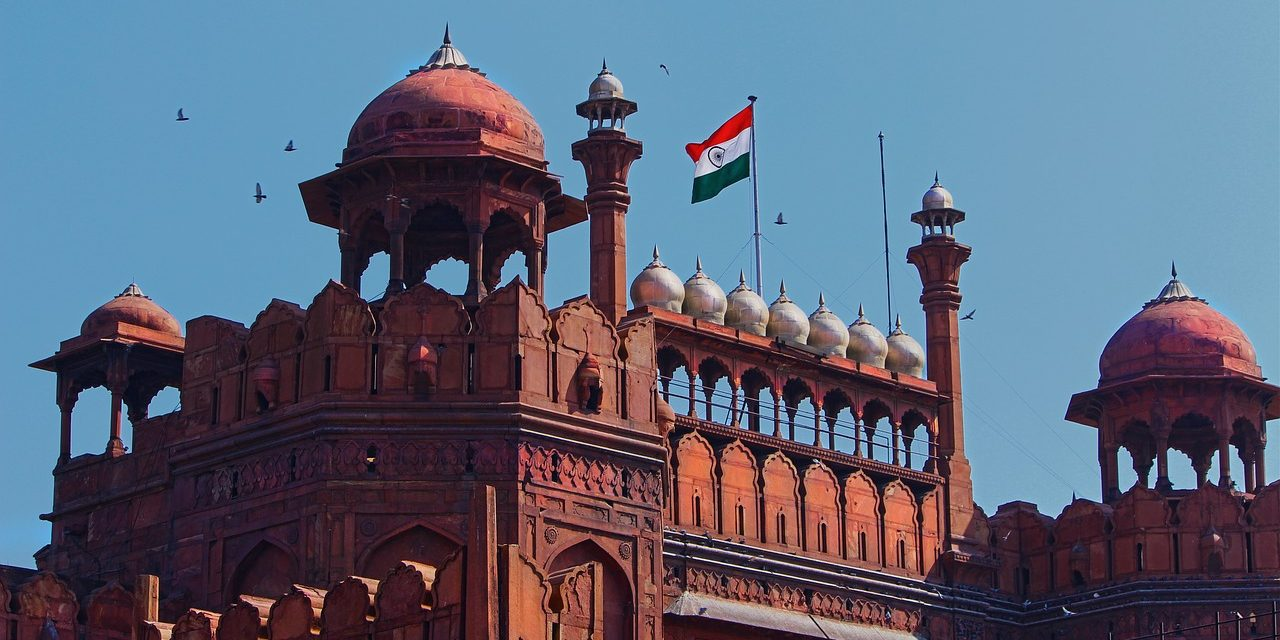 The famous Red Fort of India