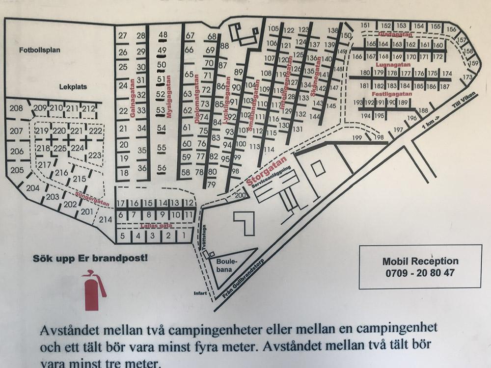 Bengts Camping Områdeskarta