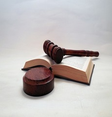 hammer with law book
