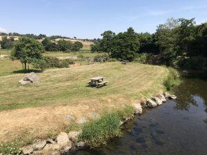 The picnic area at Parc Farm
