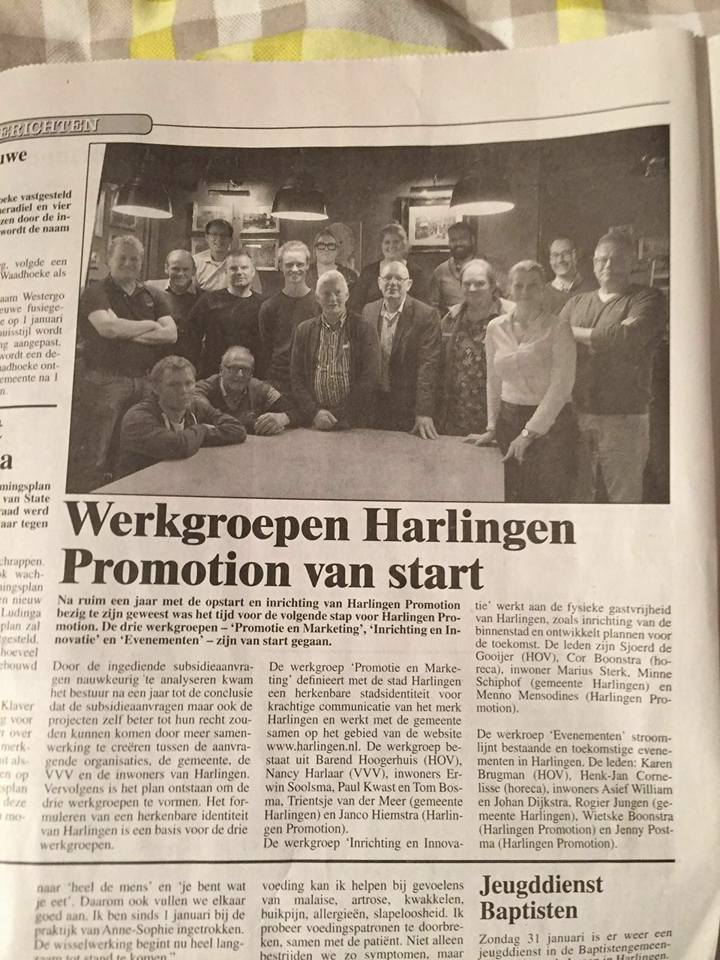 Harlinger Courant Harlingen Promotion van start