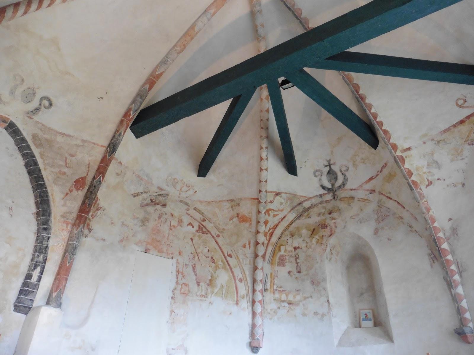 Fresco's in de kerk van Britsum