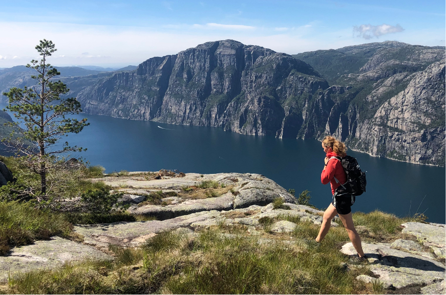 Vandretur ved Lysefjorden, Norge
