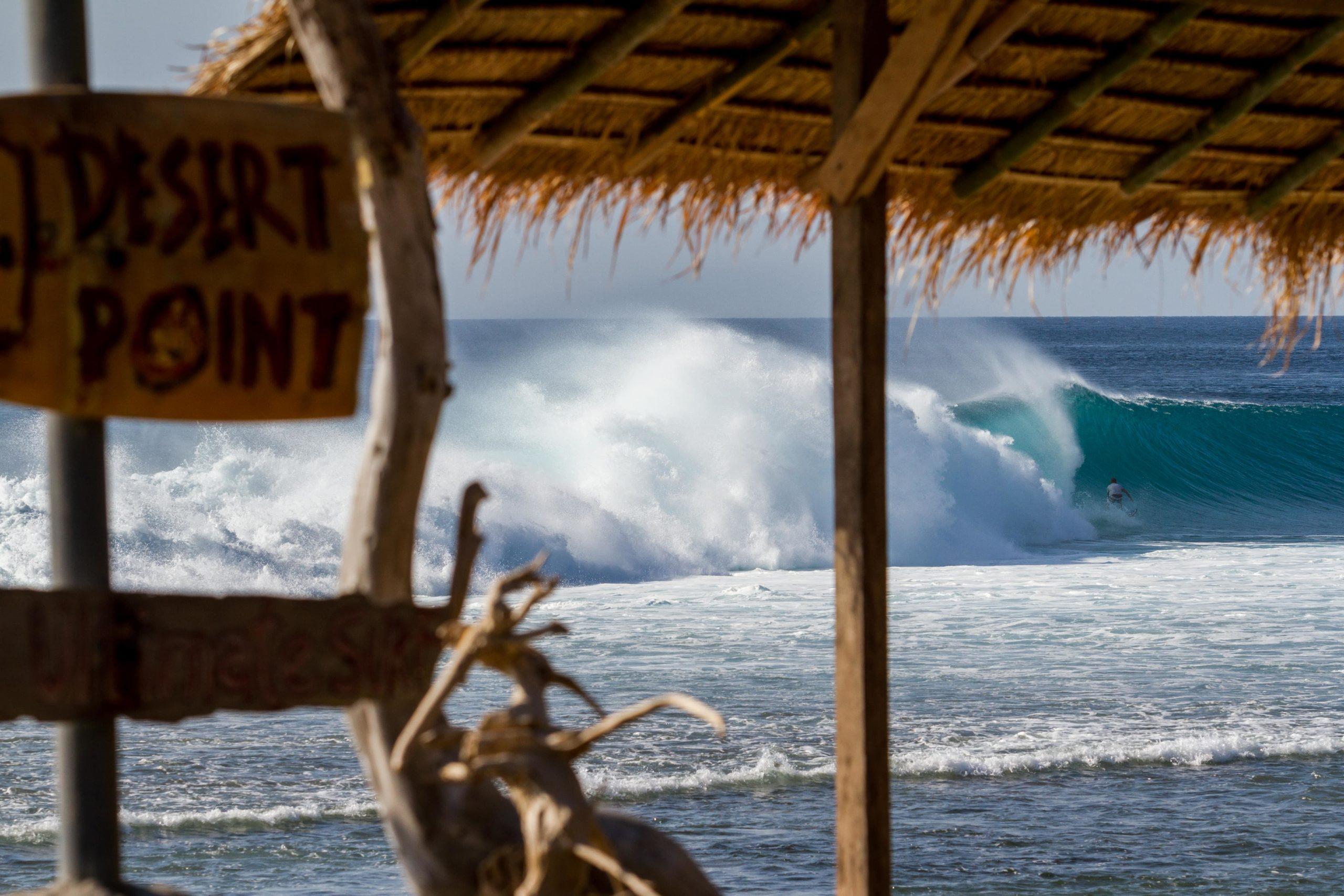 Desert Point surf spot Lombok Indonesia
