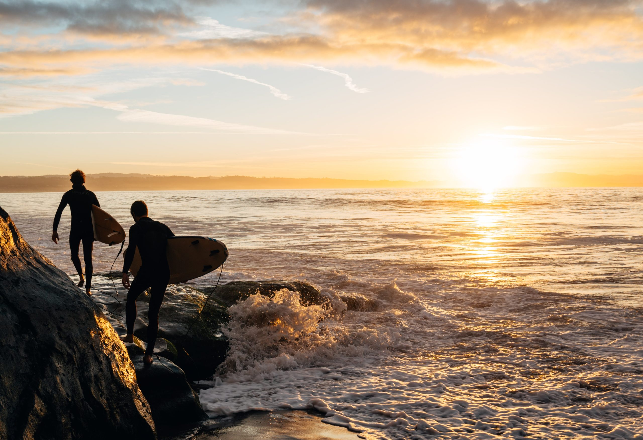 Surfing Santa Cruz - Private Beach