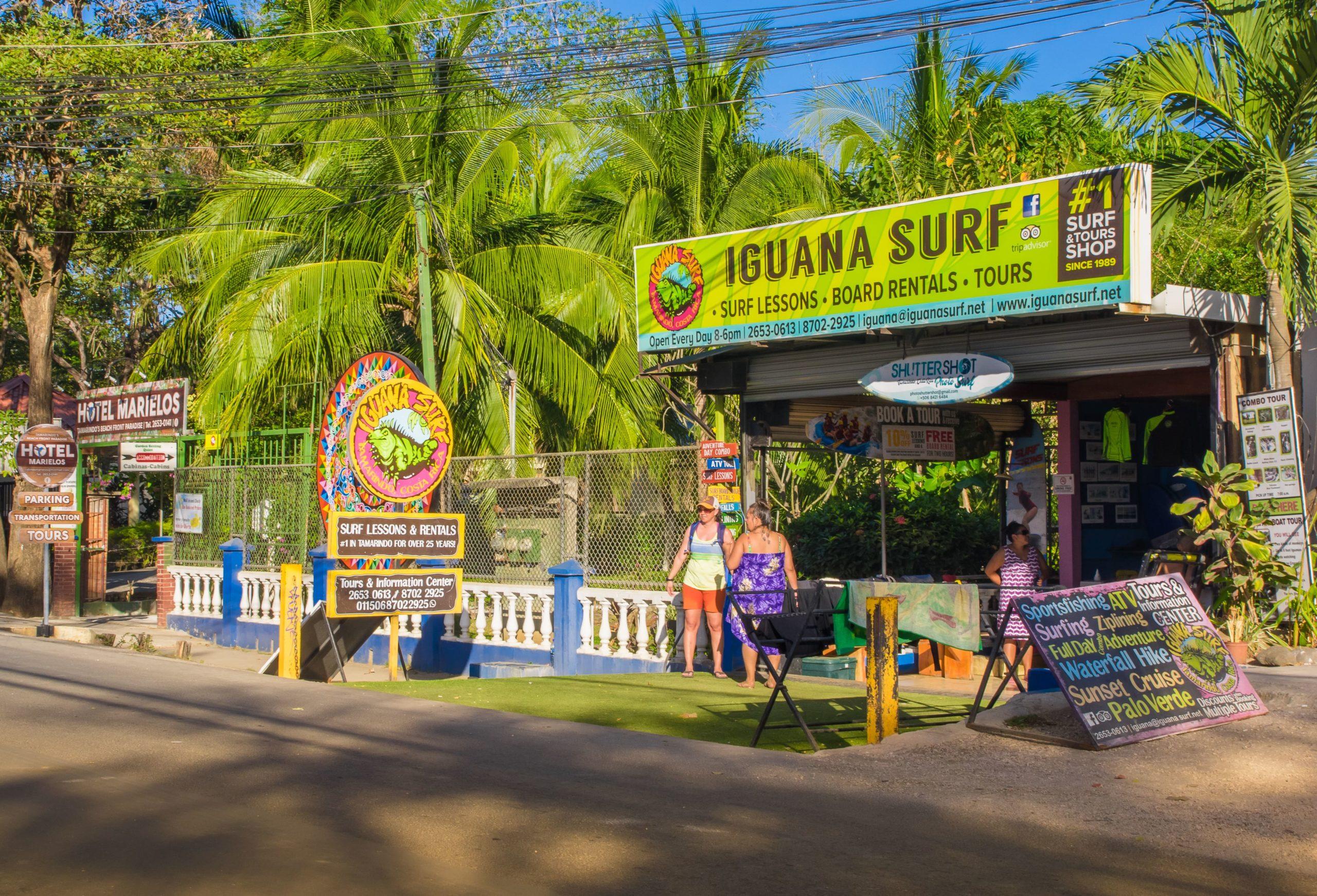 surfboard hire in Tamarindo