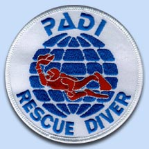 Padi Rescue Diver Embleem