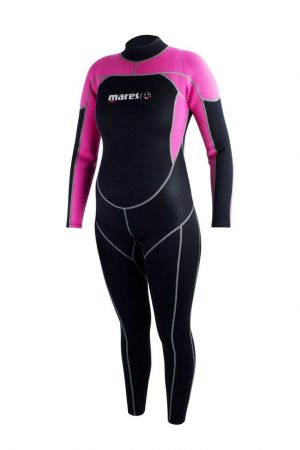 Roze Mares steamer Mira wetsuit rits achter 2.2mm