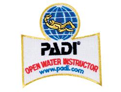 PADI open water instructor embleem
