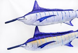 GabyBlauwe Marlijn (Blue Marlin) viskussenVisknuffel