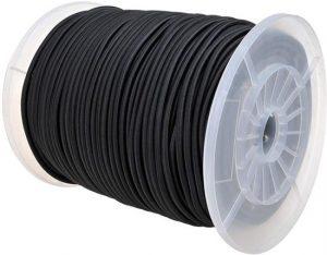Bungeekoord Elastisch Koord zwart 5mm