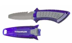 De Trimvest mes gemaakt van Titanium is een mes wat zeer licht en compact is. Perfect voor elke duiker die extra veiligheid bij zich wil dragen.