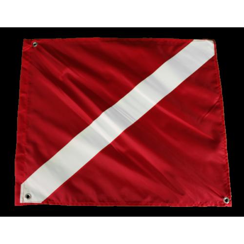 Duikersvlag duikvlag rood wit