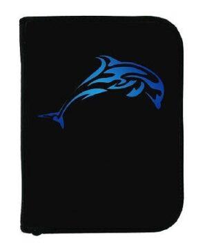 3-rings duik logboek Dolfijn blauw