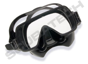 Tecline Frameless Mask Rounded Black Silicone