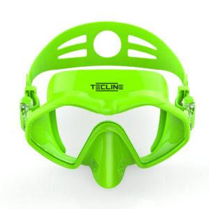 Tecline Frameless Neon duikmasker groen