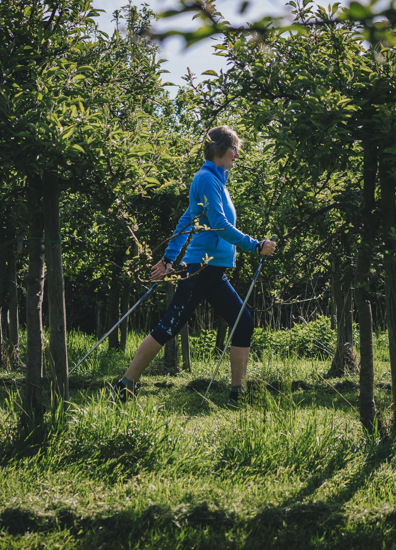 Nordic Walking Hamburg Finkenwerder auf dem Obsthof