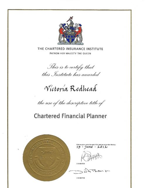 Chartered Certificate