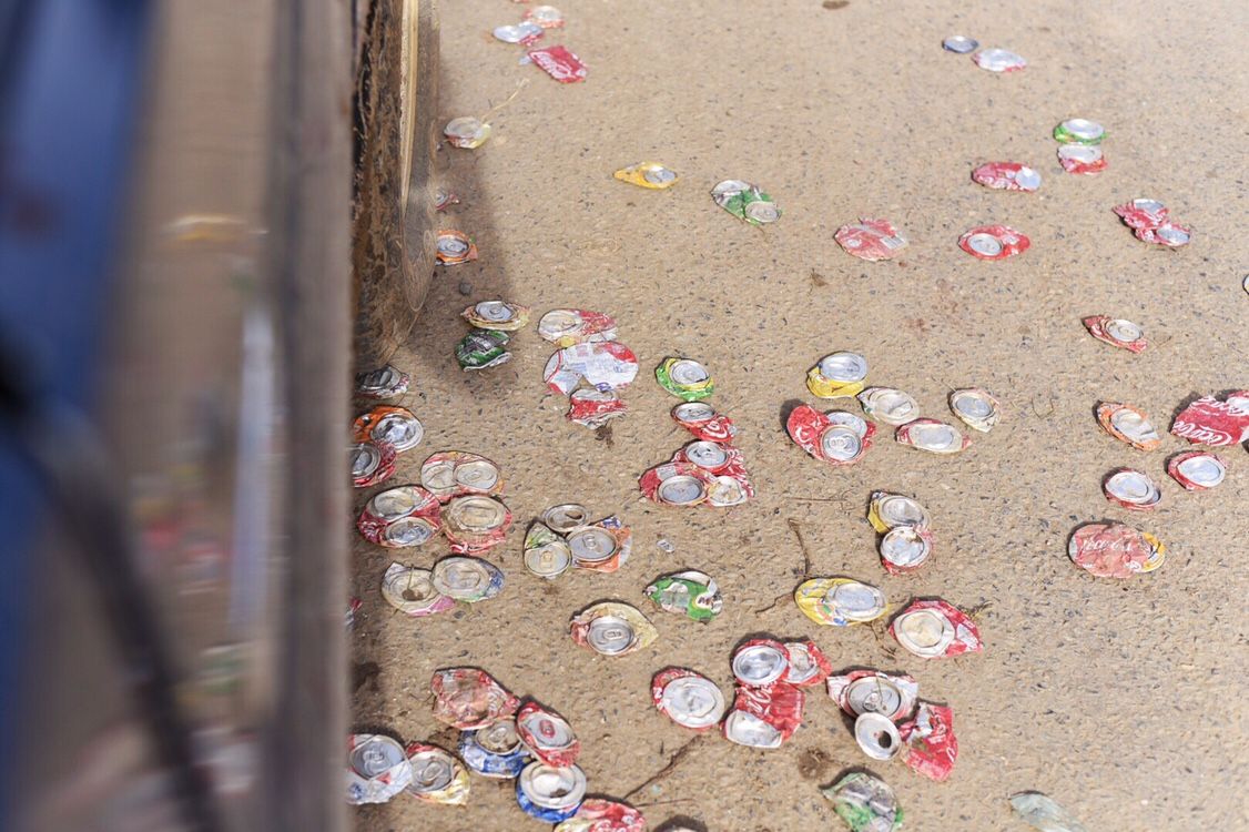 Recycling van blikjes frisdrank