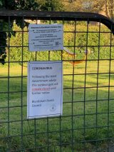 Play Park and Outdoor Gym Closed