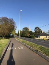 A1123 Rectory Road @ 1754 hrs on a weekday in April