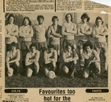Bluntisham Football Team around 1975