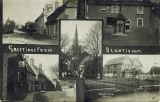 Bluntisham Postcard approx 1912, High Street & Block Hill,  (Peter Searle)