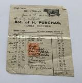 Butcher's Bill - Mr Tebbutt 1923