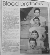 Boxing - blood brothers - provided by Bev White