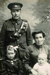 Stevey Lister  with Annie Lister, nee Chapman, and their daughter Mary Jane, who went on to marry Reg Gill