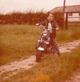 Darren Pingree & his motorbike
