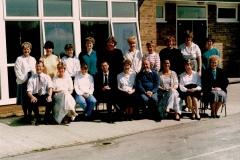 St Helens Staff 1990s (Sylvia Waterworth)