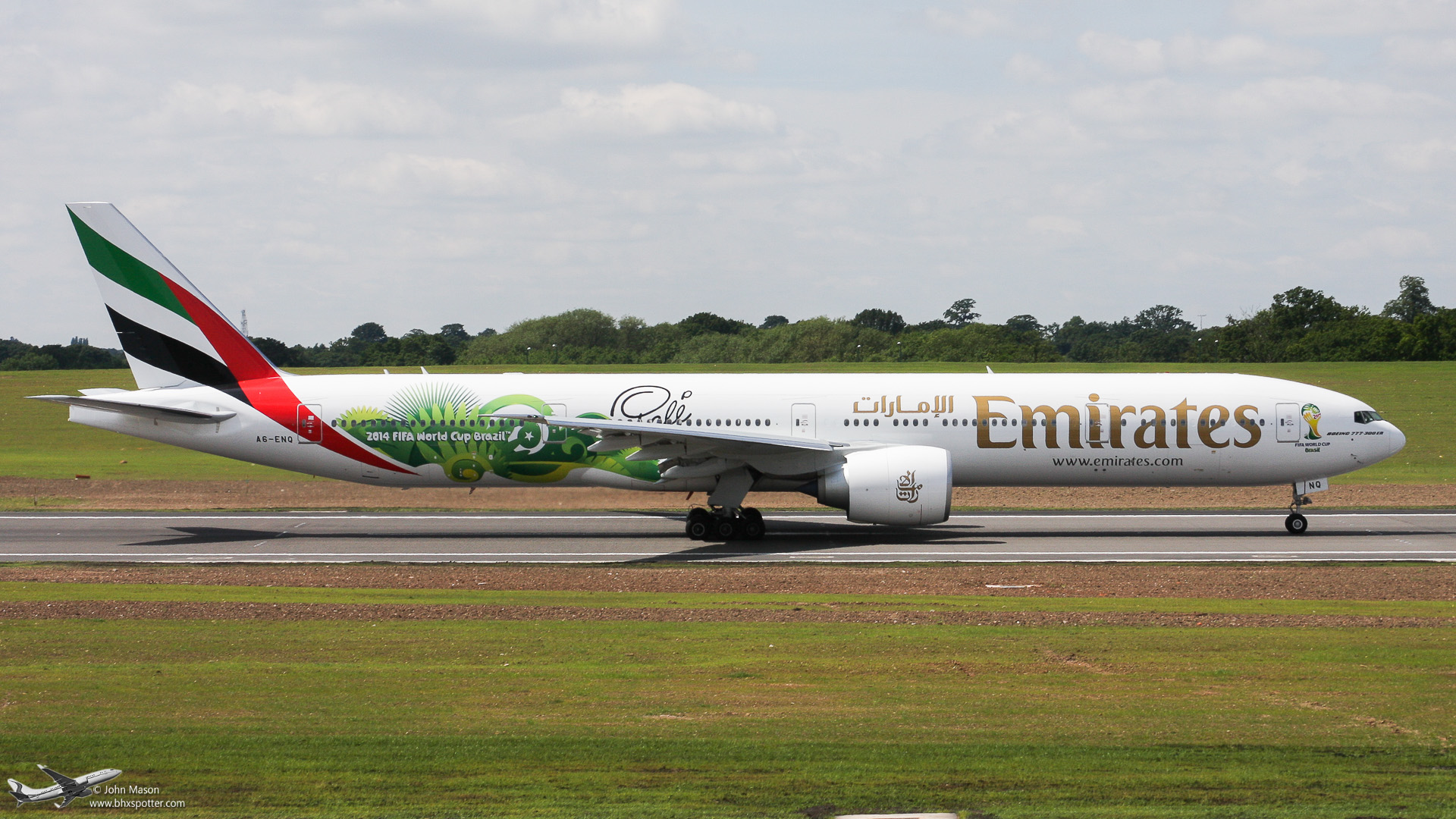 "A6-ENQ B773 EMIRATES ""World Cup Brazil 2014"""