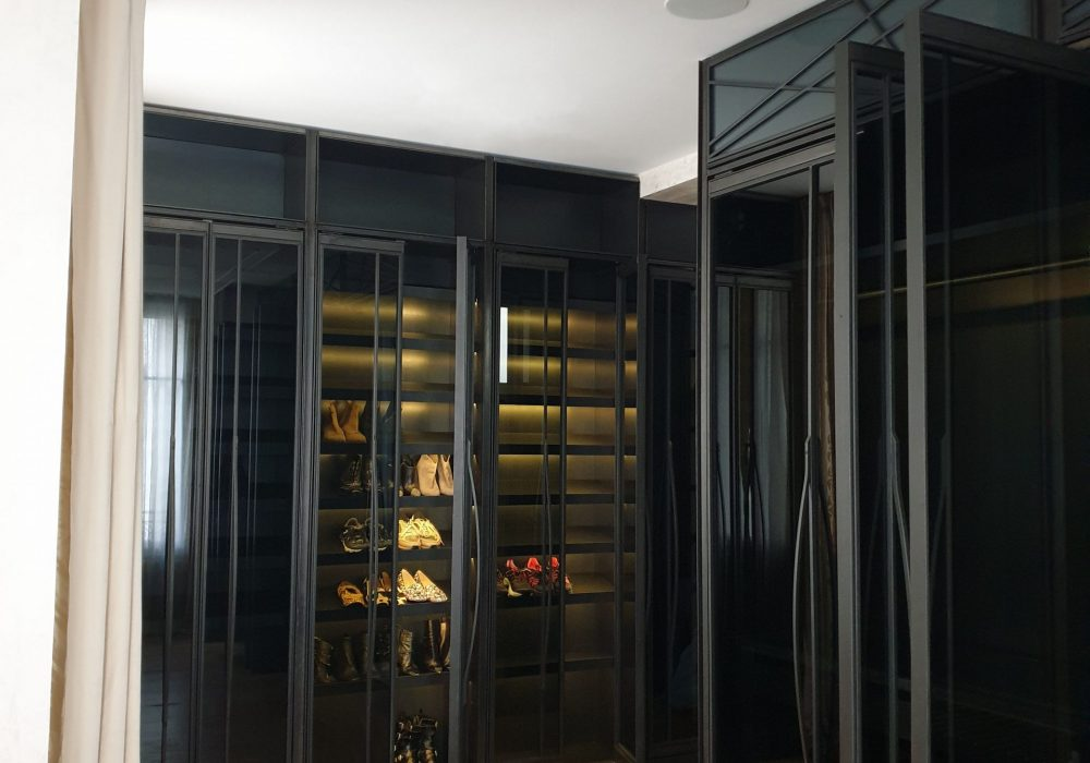 Dressing room for a master bedroom in Paris.