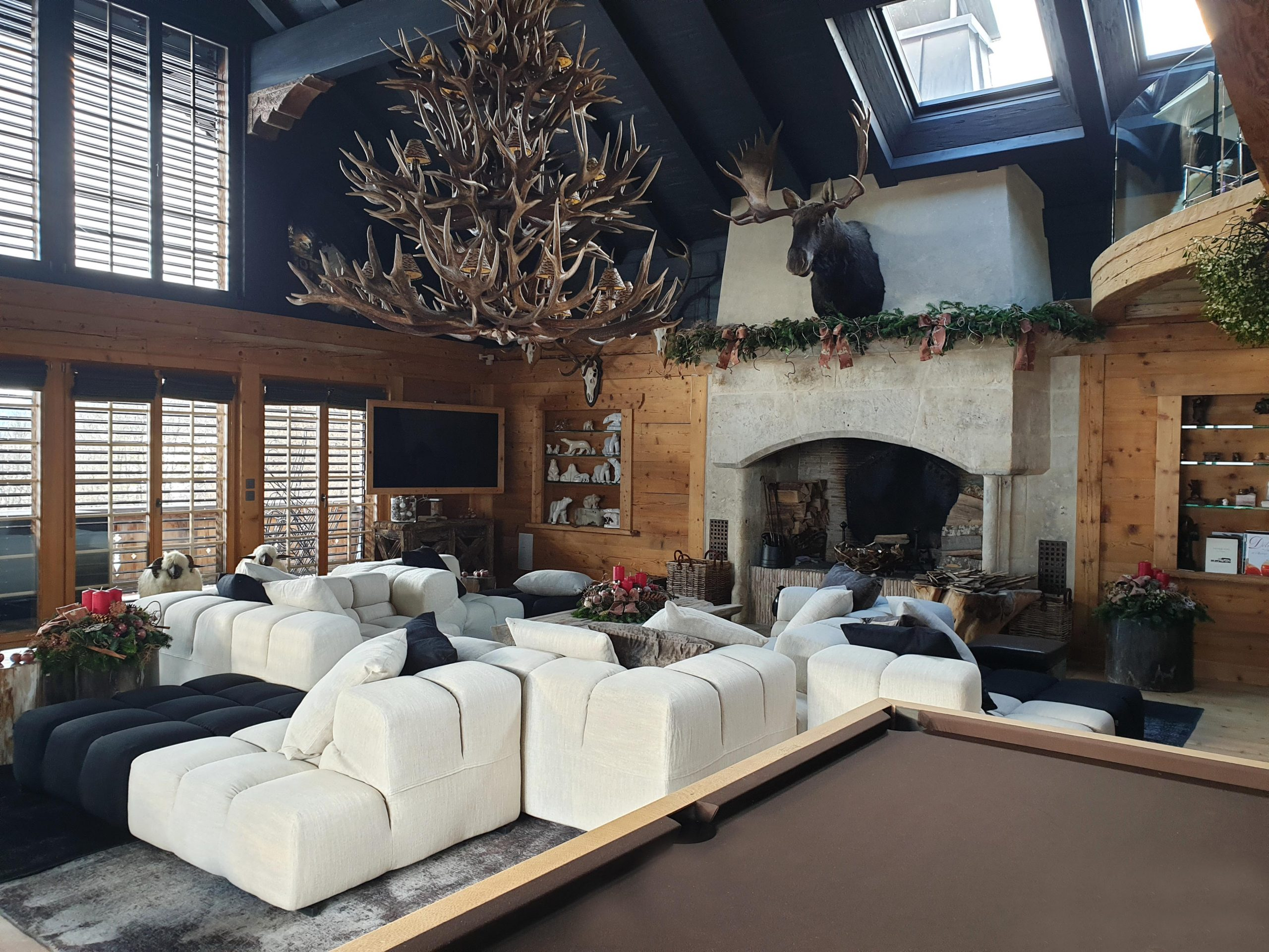 Sitting room in a Swiss chalet