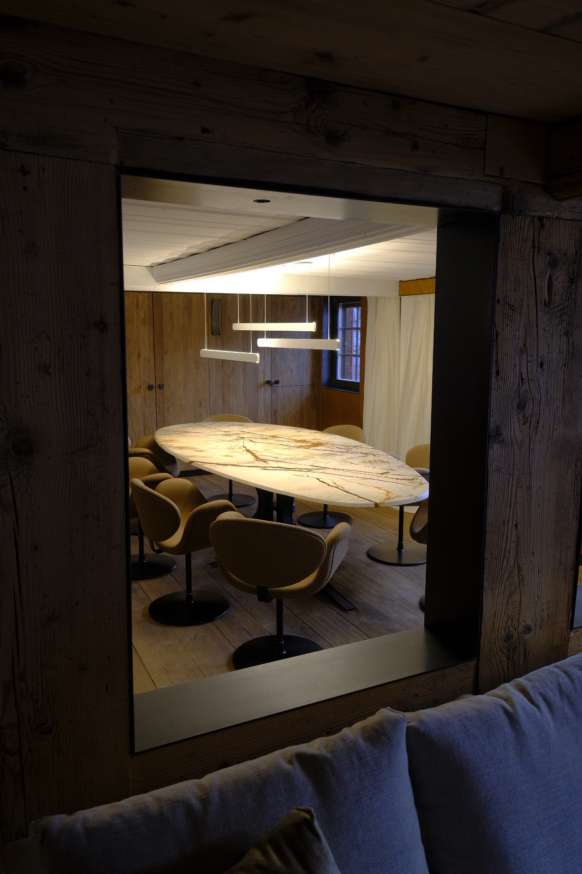 Dining room in a Swiss chalet