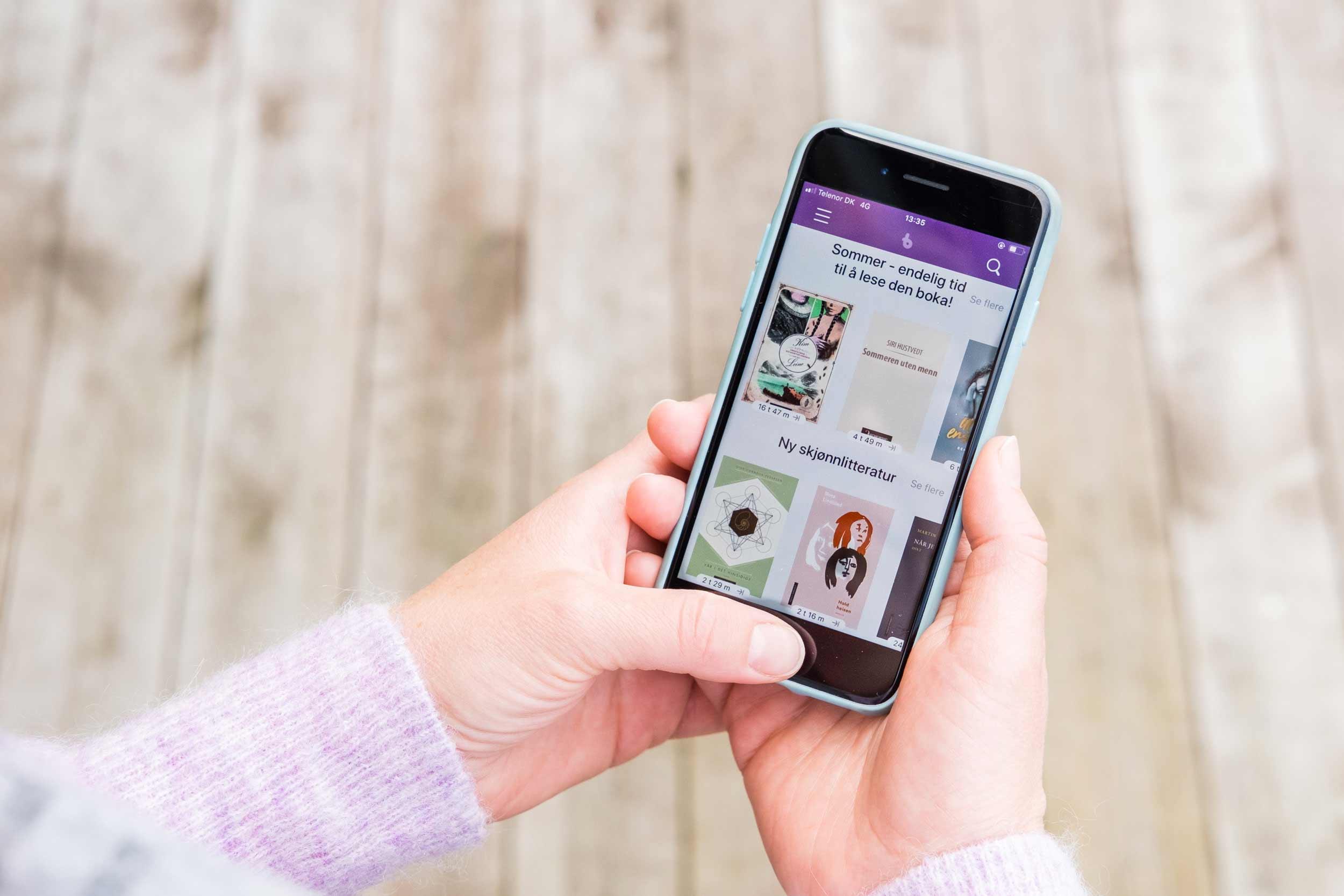 BookBites på mobil