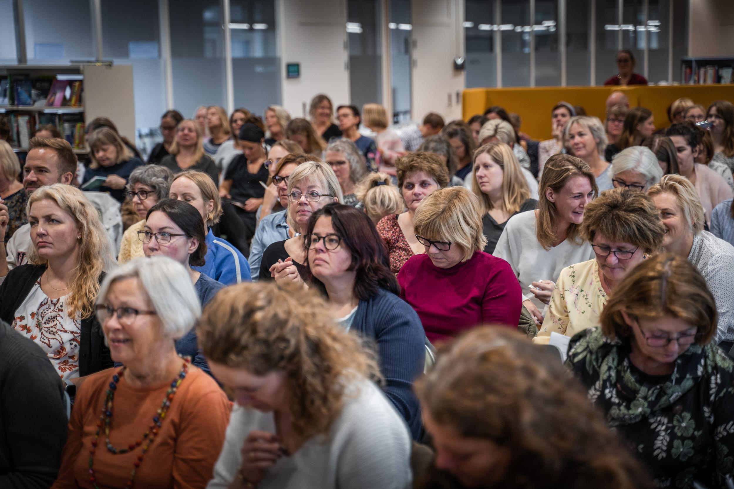 Bibliotekenes Hus - publikum i sal til Bokdager 2020