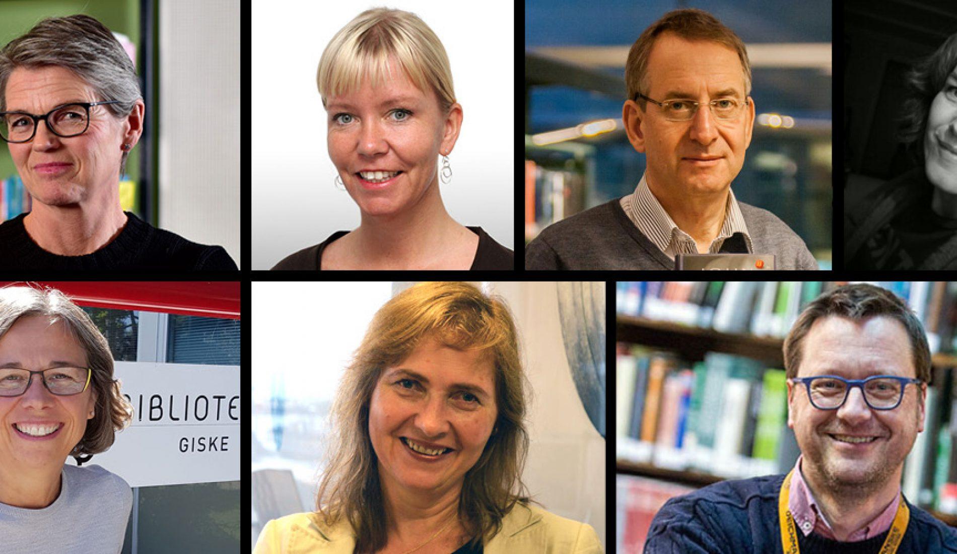 Øverst f.v.: Marit Gautneb, Anniken Bjørnes, Paul Henrik Kielland, Mona Myrland, Hilde Merete Gjessing, Leikny Haga Indergaard og Knut Skansen.