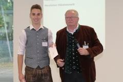 Lennart Dege und Manfred Newrzella (re.), Brauermeisterschaft in der Berufsschule für Brauwesen in München 2018
