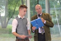 Lennart Dege und Dr. Lothar Ebbertz (re.), Brauermeisterschaft in der Berufsschule für Brauwesen in München 2018